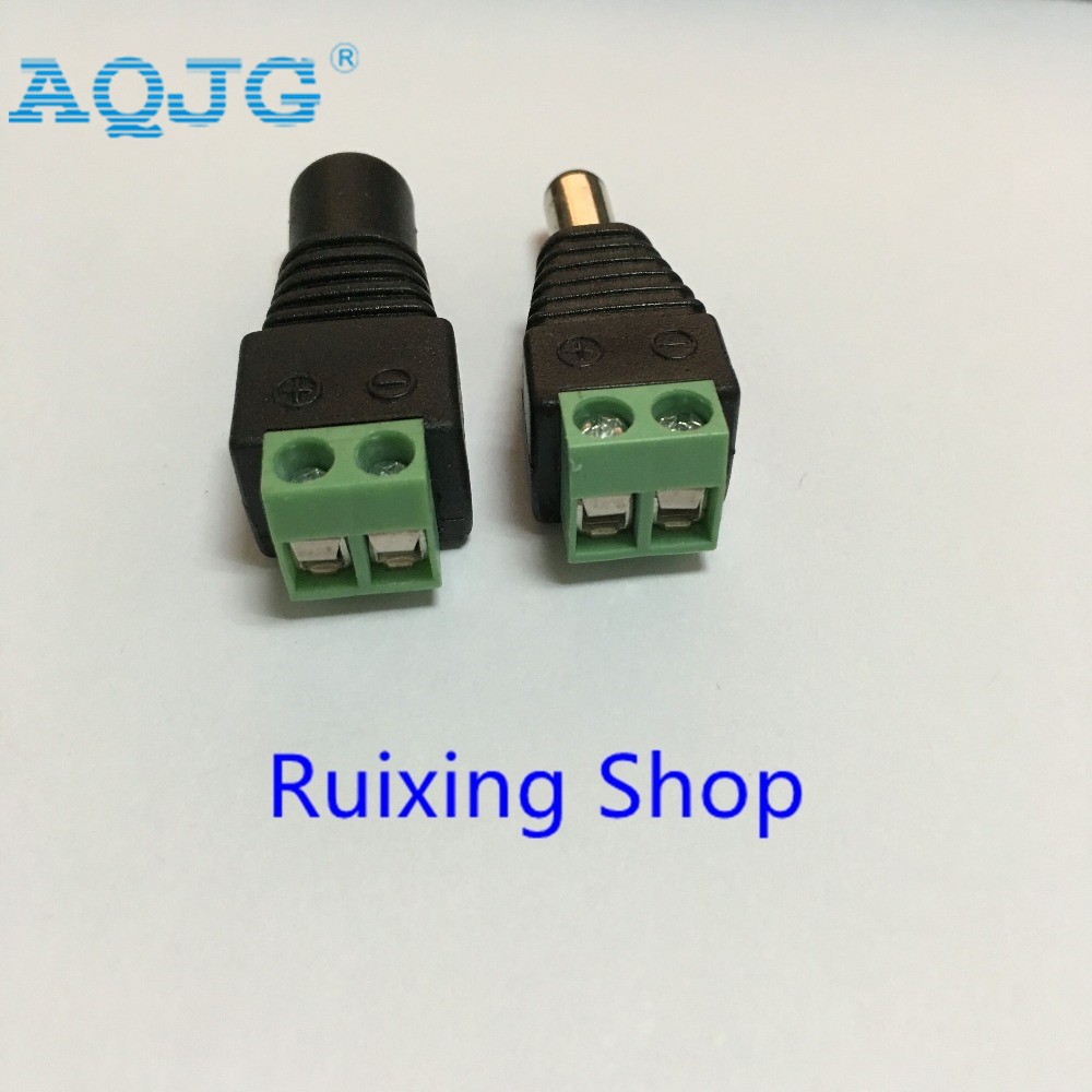 10Pair (10pcs female+10pcs male) Male Female <font><b>5.5</b></font> x 2.1mm <font><b>DC</b></font> Power 12V 24V Jack Adapter Connector <font><b>Plug</b></font> CCTV AQJG image
