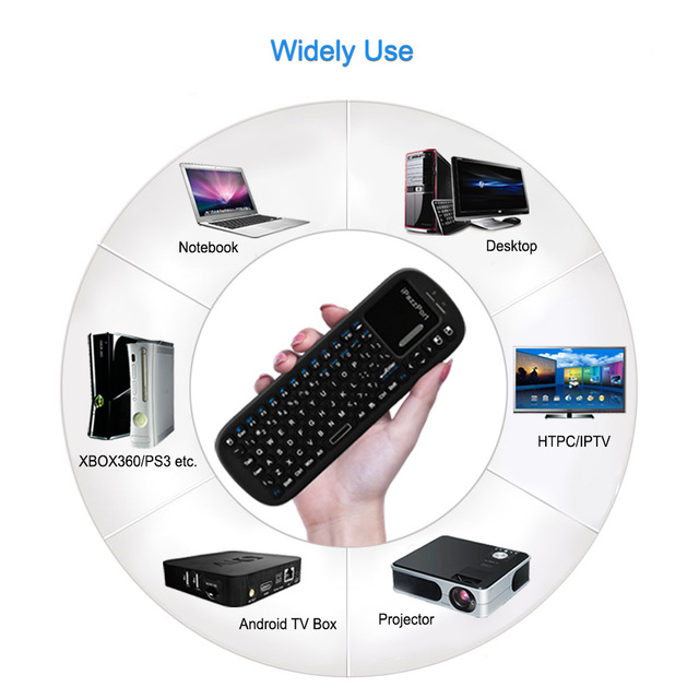 Wireless Keyboard 2.4G RF QWERTY Mini USB Gaming Keyboard Air Mouse Touchpad For Android Smart TV BOX Desktop Laptop