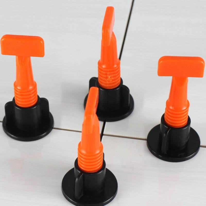 50 Pcs Flat Ceramic Floor Wall Construction Tools Reusable Tile Leveling System Kit TN88
