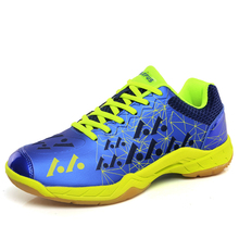 Men Women Badminton Shoes Anti Slip Professional Tennis Sneakers Men 2018 Indoor Table Shoes Breathable Indoor Court Shoes