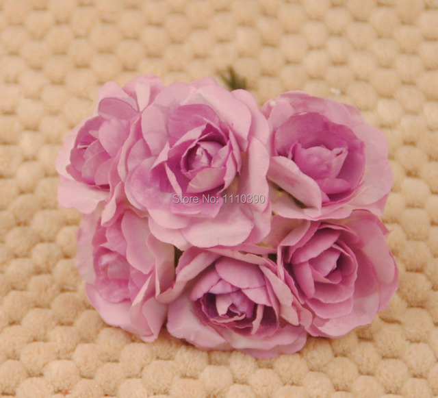 3CM diy tissue Paper flowers bouquets,artificial flowers,real touch ...