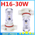 2pcs/lot PSX24W PY24W H16 30W White High Power  led chip Auto Led Car Stying Fog Daytime Running Light 12V
