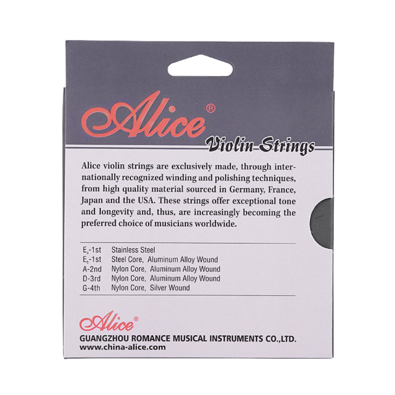 Купить с кэшбэком Alice A708 Professional Violin Strings Bowed Instrument Strings 5-string Set E-a E-b A D G