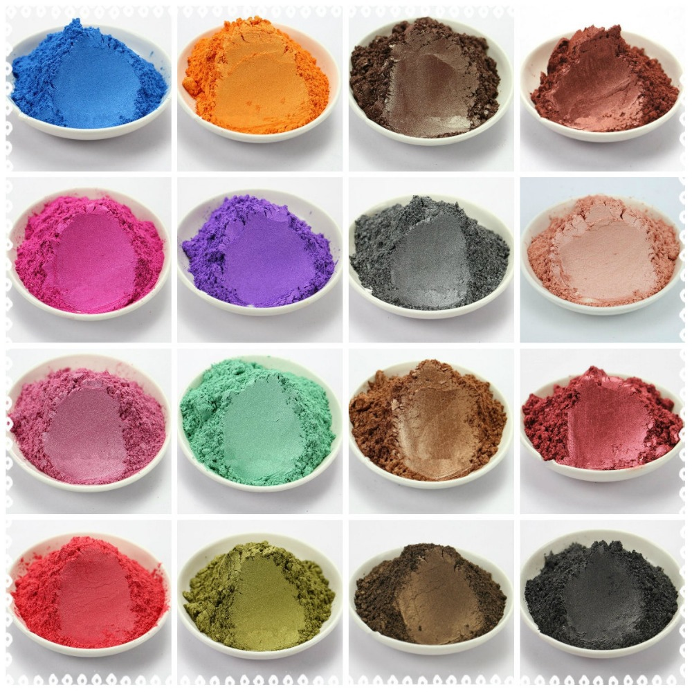 24 Colors Mixed Healthy Natural Mineral Mica Powder DIY For Soap Dye ...