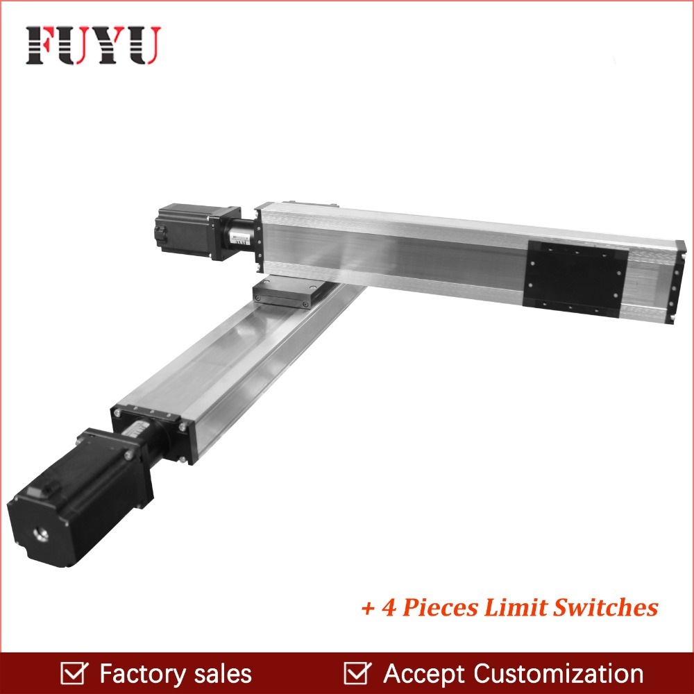 Free shipping 120mm width ball screw motorized linear slide rail stage module cnc motion guide actuator XY table nema 34 motor free shipping factory sale ball screw linear guide rail xyz motorized stage table robotic arm z axis 300mm with motor