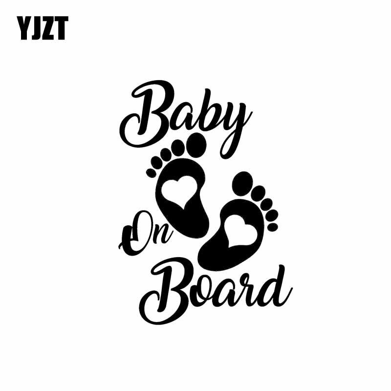 YJZT 12.7CM*17.8CM Sticker Vinyl Hobby Car Decal Baby On
