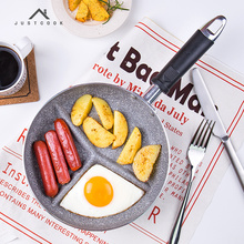 Life83 20 CM Breakfast Frying Pan Non-Stick 3 in 1 Frying Pans No Oil-smoke No Stain Gas Cooker For Fried Eggs and Bacon