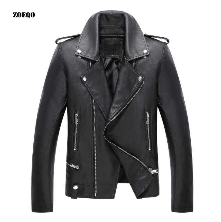 Nova Chegada de Couro & Camurça Jaquetas homens Motocicletas Jaquetas Homens Moda Couro PU casaco masculino chaqueta cuero hombre