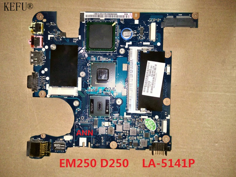 KEFU Original Laptop Motherboard For Acer EM250 D250 250 KAV60 LA 5141P motherboard 100 Working