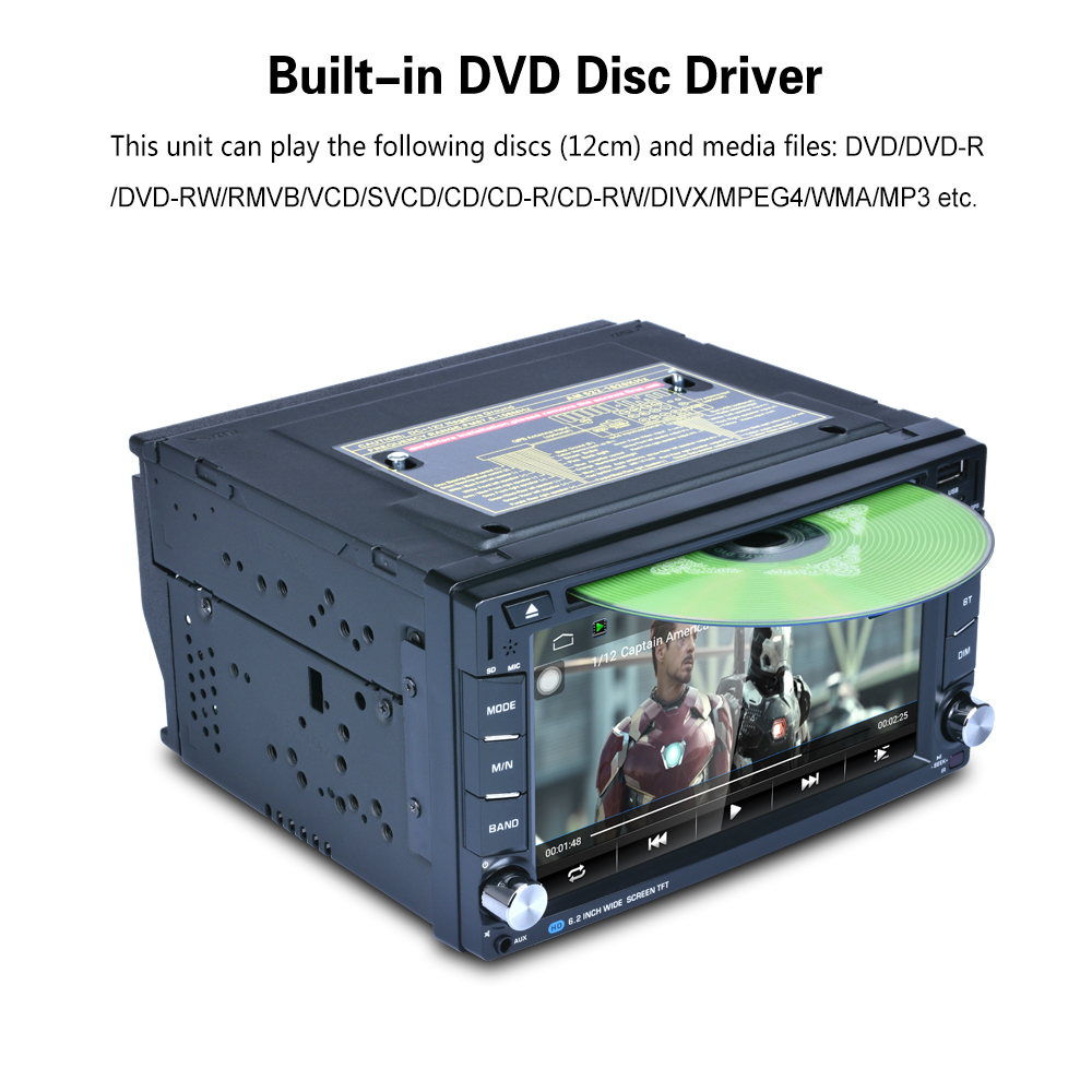AR6002B F6002B WIFI 6 2 Android 6 0 1 Car font b Radio b font DVD