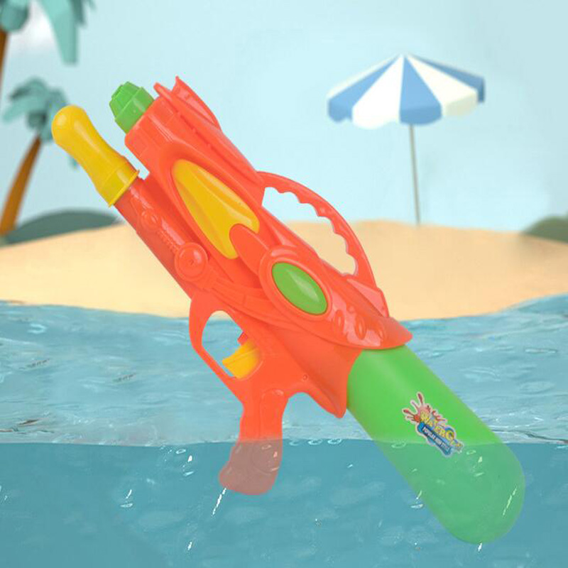 Summer Children's Parent-Child Outdoor Beach Play Water Pull-Type Double Nozzle Play Water Gun Children Interactive Game Toys