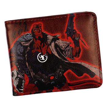 New Arrival Super Hero piekła chłopiec portfel męska fajne krótkie portfele portmonetki tanie i dobre opinie Poliester Standardowe portfele Unisex Kieszonka na monety Zdjęcie holder Wewnętrzna kieszeń Uwaga przedziału Zamek poucht