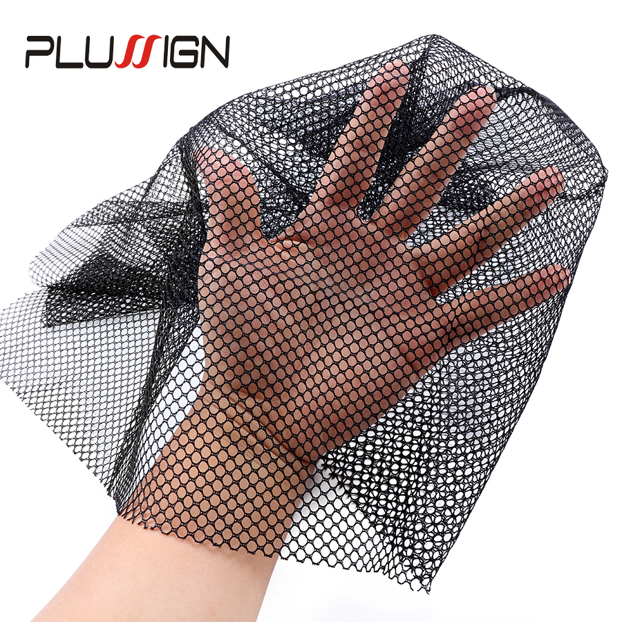 Plussign Swiss Lace Net Basement Frontal Closure Foundation Weaving Netting For Making Lace Wig Toupee Hair Piece Accessrie