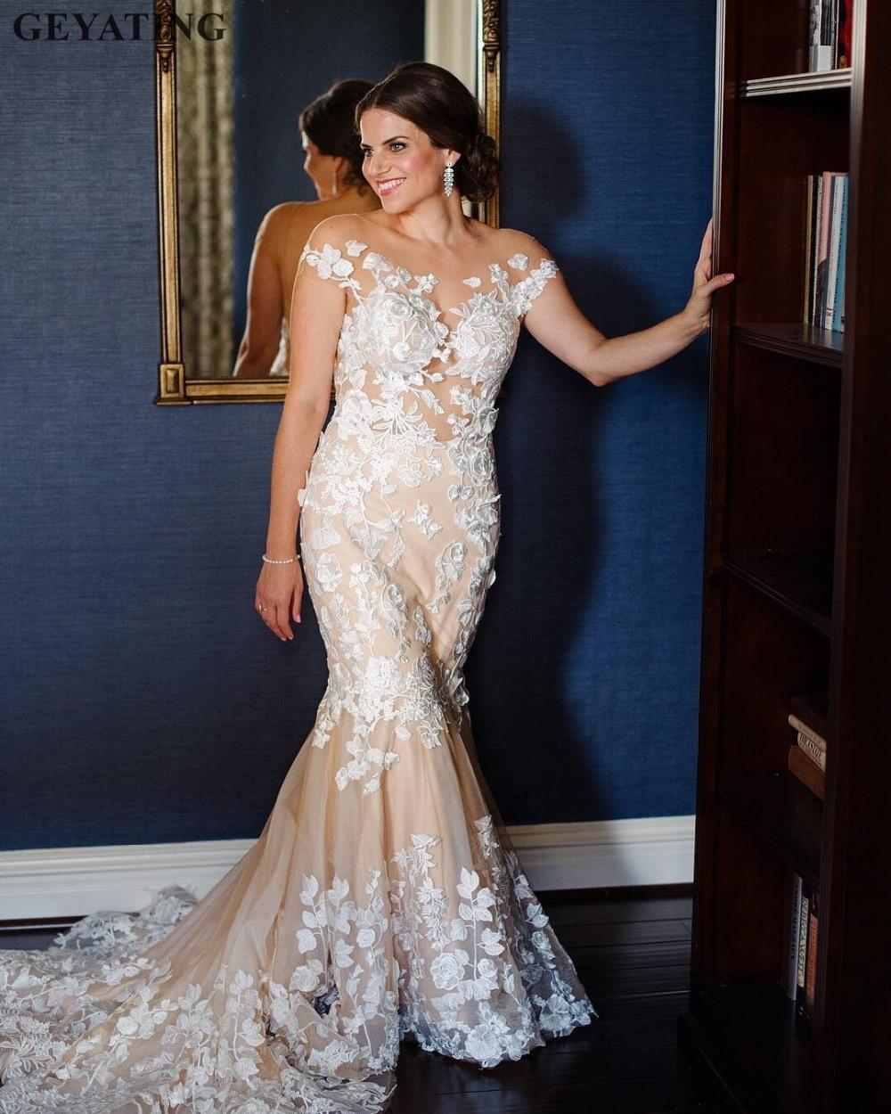 Vintage Wedding Dresses Amsterdam: Aliexpress.com : Buy Vintage Ivory Lace Champagne Mermaid