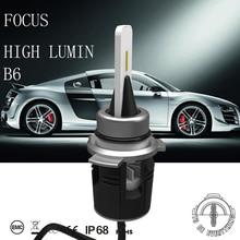 DLAND B6 24 Вт 3600LM авто светодиодный комплект лампа, с турбины тепло излучающих H1 H3 H7 H8 H9 H11 9012 9005 9006 880 881 H4 H13