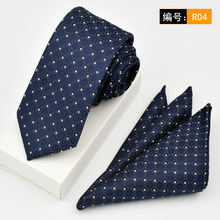 Tie 6cm Fashion Skinny Ties Handkerchief Set Dots Woven Gravata Pocket Square