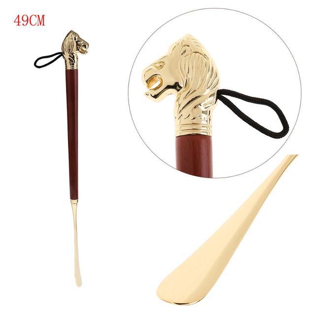 Di alta Qualità 49cm di Lunghezza Scarpa Corno Manico In Metallo Calzascarpe di Metallo Resistente E Leggero Scarpe Corna