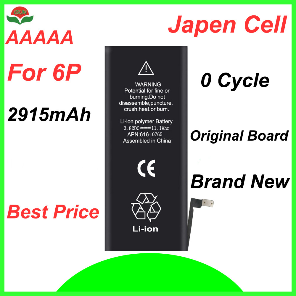Cycle-Mobile-Battery Battery-Replacement 6plus Original-Quality For IPhone 2915mah ISUN