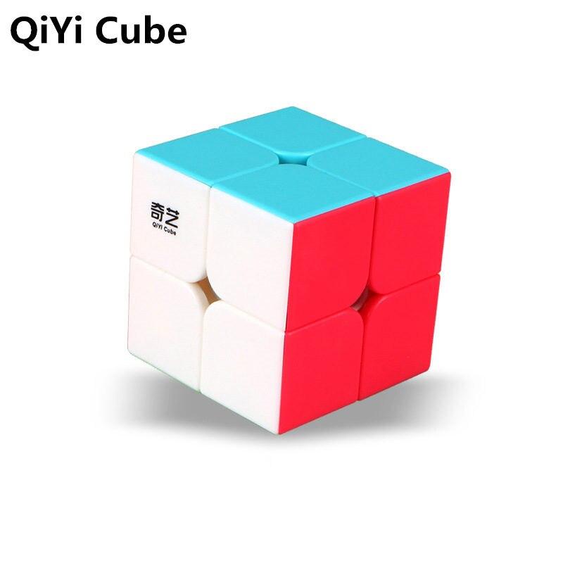 QI QiYi DI S 2x2x2 QIDI Bolso Magic Cube Stickerless Velocidade Cubes Puzzle Cube Educacionais Profissional brinquedos Para As Crianças