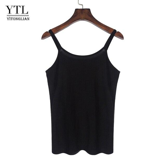 Mulheres Verão Tanque Camisole Sólidos Lady Escritório Estilo de Trabalho Feminino Preto top Alça de Ombro Ajustável H220