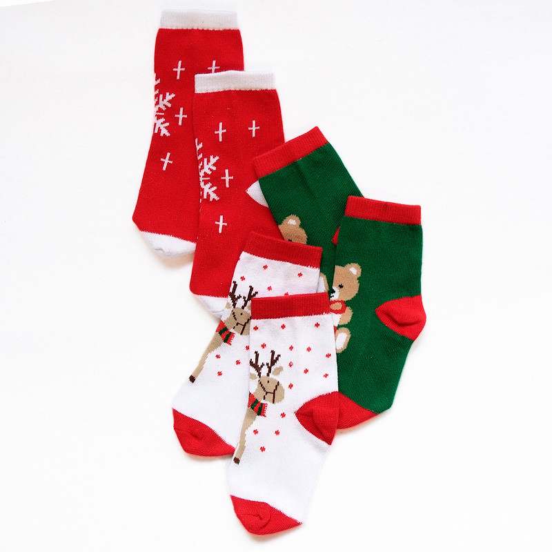 LAWADKA Christmas Gift Soft Cotton Newborn Baby Girl Socks Cute Cartoon Pattern Kids Socks Boys For Baby Girls Socks 0-5 years 2