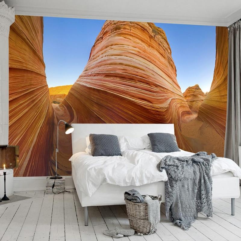 Custom Photo Wall Mural Wallpaper Modern Simple Art Abstract Canyon Rock 3D Stereoscopic Effect Backdrop Wallpaper Wall Covering