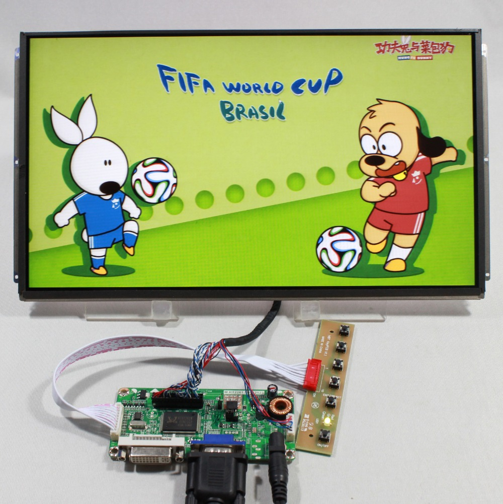DVI VGA LCD controller board with 13 3inch LP133WD1 SLA1 1600x900 ips lcd panel