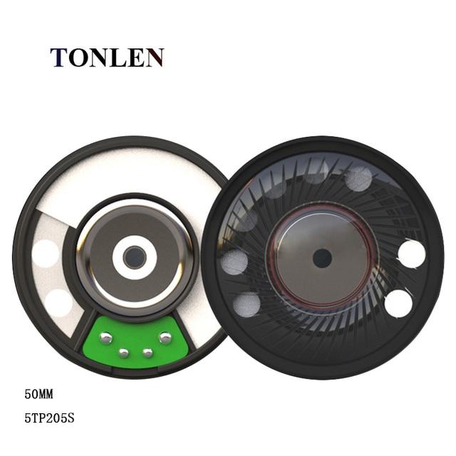 TONLEN 2pcs Headphone 50mm Bluetooth Speaker 16ohm Subwoofer Headset PET Single Diaphragm Material DIY Wireless Earphone Speaker