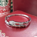 Designer Fashion 925 Sterling Silver Jewelry Platinum Plated 3A Cubic Zirconia Party Snake Bangle