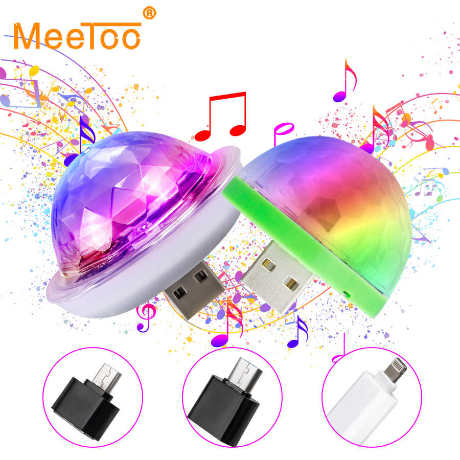 Mini USB LED Party Lichter Bühne Lumiere Wirkung Lampe 4 W Tragbare Disco Ball Bunte Laser DJ Disco Licht Musik für Handy