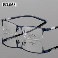 2017 New Ultra Light Steel Business Men S Half Frame Glasses Optical Frame