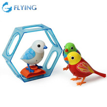 Digi Birds Singing Tweet Solo Choir Voice Music Electric Toys with Button Battery Christmas Gift for Kids