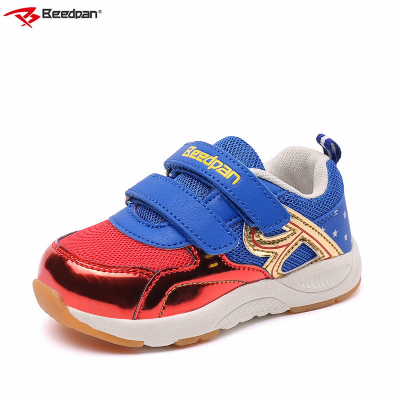 Beedpan Boys Shoes Kids Sneakers Casual Shoes Sport Spring Autumn Children Shoes Girls Sneakers Breathable Baby Toddler sneakers 2017 babyfeet spring and autumn children sneakers baby girls child toddler shoes breathable fashion pu leather boys sports shoes