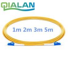 LC UPC Fiber Optik Yama Kablosu Dubleks 2.0mm PVC Optik Jumper Tek Mod FTTH Fiber yama kablosu LC Konektörü