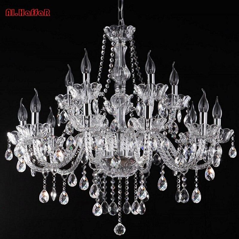 Luz de la lámpara candelabro de cristal moderno de lujo de luz de cristal de la lámpara de cristal de luz lámpara moderna