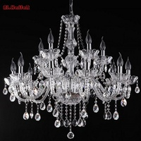 Modern 18 Arm Large Crystal Chandelier Luxury Crystal Light Chandelier Fashion Palaces Crystal Large Chandelier Light