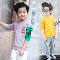 100% Cotton New 2017 Baby Boys Clothing Toddler Children Kids Clothes Spring Brand Tees T-Shirt Long Sleeve t Shirt Boys Blouse
