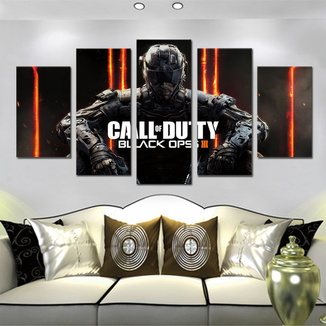 Unframed Canvas Painting Call Duty Black Ops 3 Game Poster Modular Picture Prints Pictures For Living Room Wall Art Decoration 1