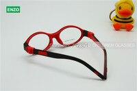 Garçons Lunettes Cadre Silicone Taille 43mm, pas de Vis Sécurité Flexible Optique Filles Lunettes, pliable Enfants Lunettes