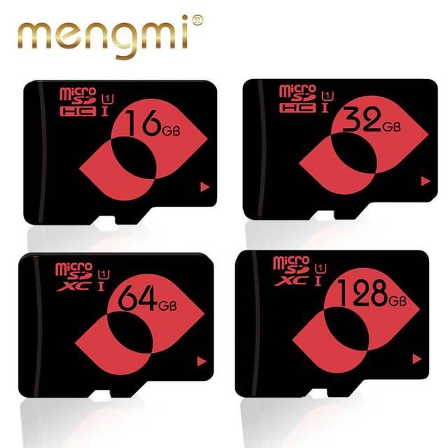 Cartão De Memória Micro SD gb U1 16 Mengmi 8 gb Class10 32 gb 64 gb 128 gb Cartão Microsd SDHC SDXC C10 cartão tf para a Câmera do Celular