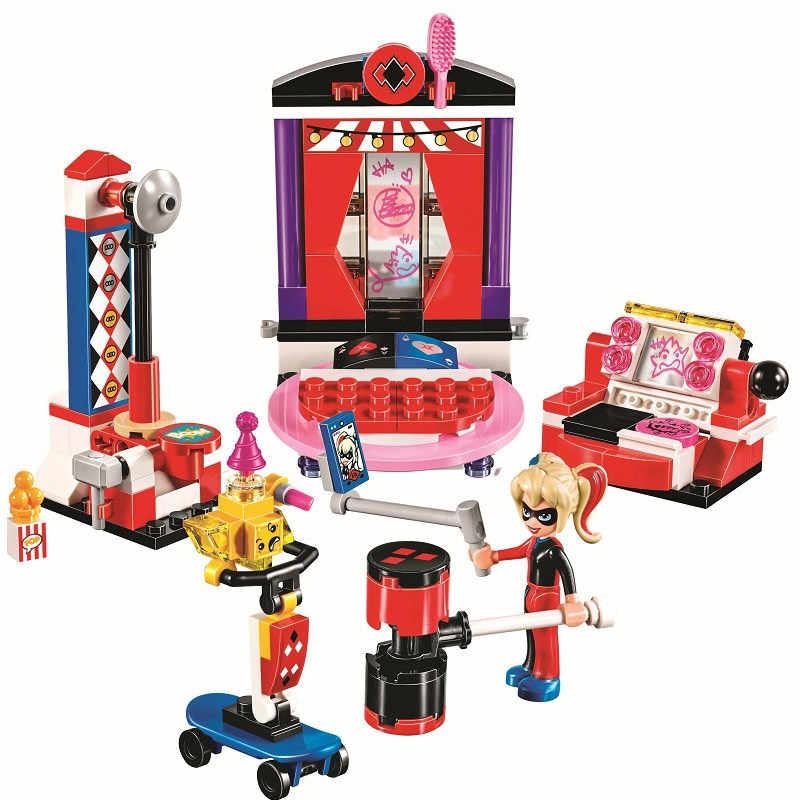 Bela 10688 Super Heroes Girls Harley Quinn Dorm Model Building Blocks Toys 178pcs Bricks Compatible With Bela 41236