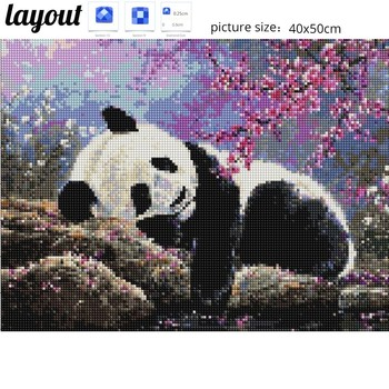 Huacan Diamond Embroidery Animal Full Square Picture Mosaic Rhinestone Home Decoration Diamond Painting
