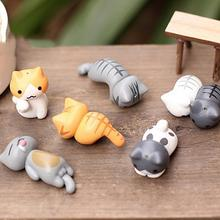 6pcs Miniature Fairy Garden Decorations Kawaii Cartoon Mini Cat Crafts Micro Landscape Home Decoration Accessories For Home