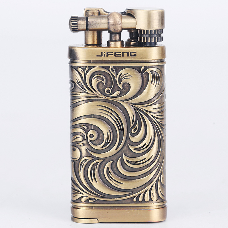 Manual pure copper pipe lighter, metal gas lighter,Household Merchandises,Lighters & Smoking Accessories