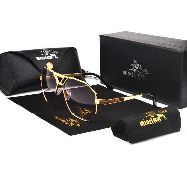 MINCL/yeni stil 2019 lüks marka tasarımcısı güneş gözlüğü erkekler kadınlar Vintage büyük boy gözlük adam NX