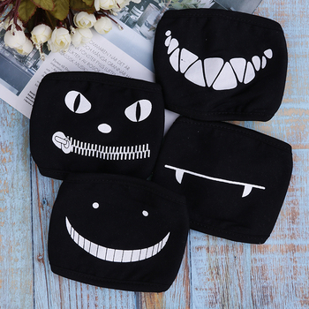 1PC Black Anime Cartoon Kpop Lucky Bear Unisex Muffle Face Mouth Masks Kawaii Cotton Dustproof Mouth Face Mask 12 Styles