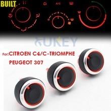 Moldura de botões para peugeot 307, de controle climático, para citröen C-TRIOMPHE c4