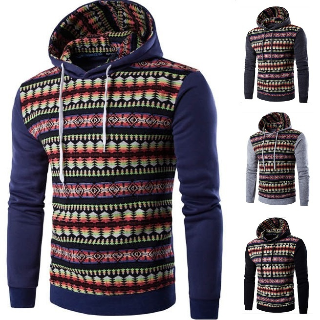 Plus Size New Men's Long-Sleeve Cardigan Slim Hoody