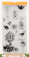Transparent Clear Stamp birdcage Seal For DIY Paper Craft Photo Card Scrapbooking Hand Account silicone handwork art animal