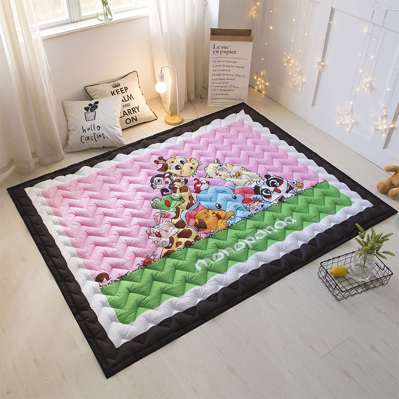 Childrens 15mm Thick Quilted Tatami Mat Kids Room Play Crawling Yoga Mats Rugs and Carpets for Home Living Room 145*195cm Childrens 15mm Thick Quilted Tatami Mat Kids Room Play Crawling Yoga Mats Rugs and Carpets for Home Living Room 145*195cm
